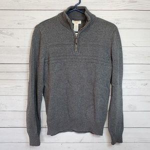 Dockers Gray Zip Collar Long Sleeve Sweater S